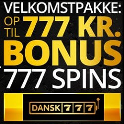 Play great casino games in Denmark at Dansk777